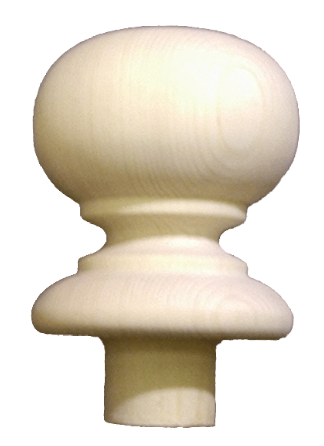Pine Newel Ball Cap 105mm BCP SfW