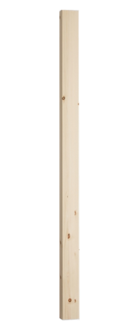 Pine Square Newel (excluding Cap) 1500x91x91mm - SfW NP1500P