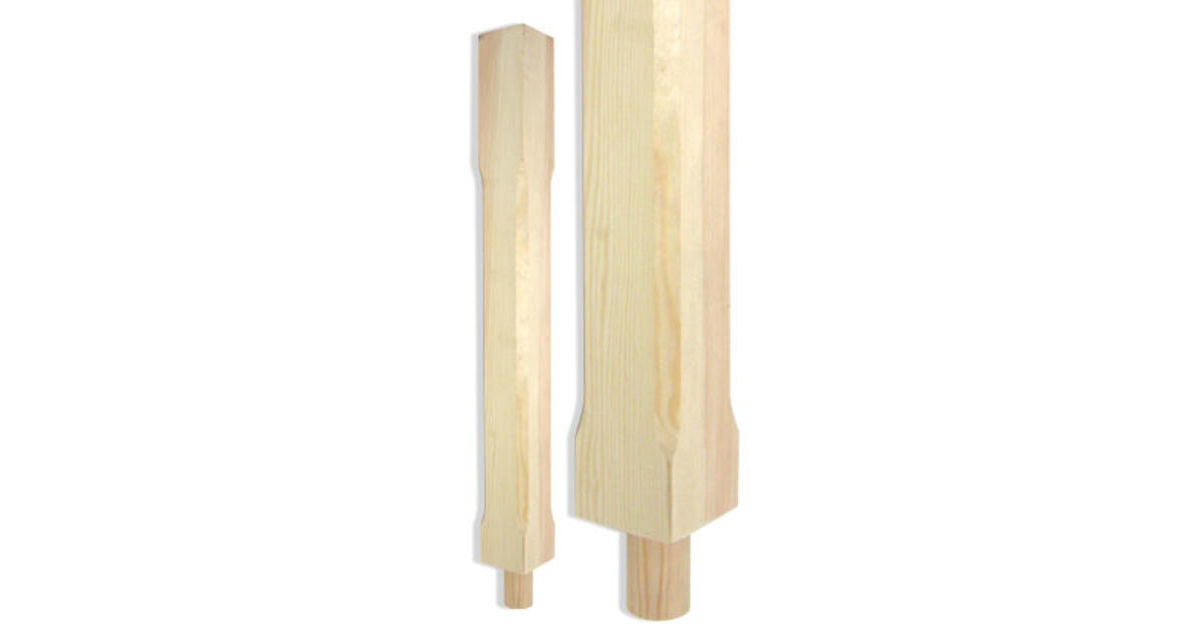 Pine Chamfered Square Newel Post ( without Cap ) 1500x90x90mm - SfW ST1500P