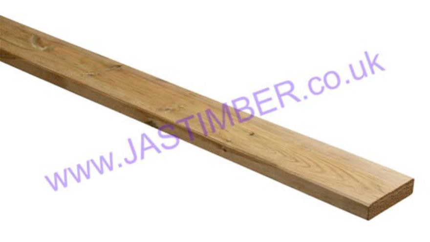 LD220 Treated Decking Flat Capping Rail 27x115x2400mm - LD1220 - LD3220 - Richard Burbidge