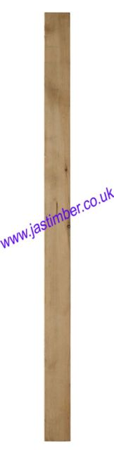 LD224 Treated Decking Square Newel 82x82x1375mm - LD1224 - LD3224 - Richard Burbidge