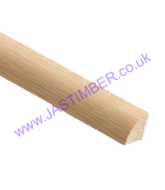 Oak Quadrant Glazing Bead - Choose OM009 12mm - OM010 15mm - OM011 18mm - OM012 21mm - 2.4 metre length.