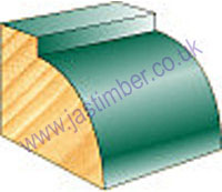 Pine Ovolo Glazing Bead  - Cheshire Mouldings - TM570 - TM571 - TM572 - TM55024 @ JAS Timber