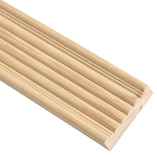 Reed Architrave (79x21mm x 2.4 Metre.) TM473 Pine Cheshire Moulding