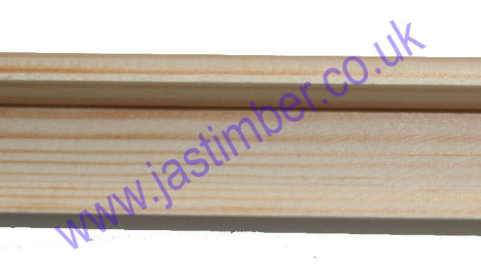 TM502 Cushion Corner Softwood Moulding - side-view