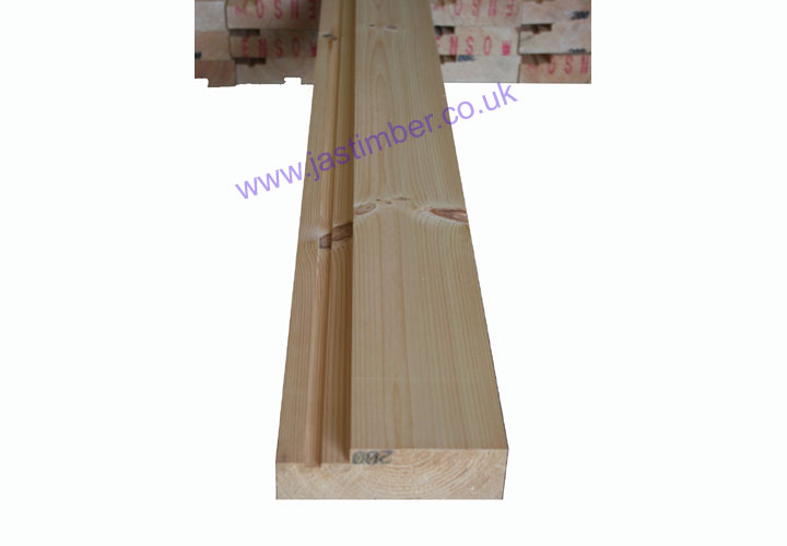 6x2 Firecheck Door Casing Softwood Set: Finished size: 44x143mm - Grooved 15x4mm - 2 @ 2.1M. 1 @ 1 M. Untrenched Loose Set