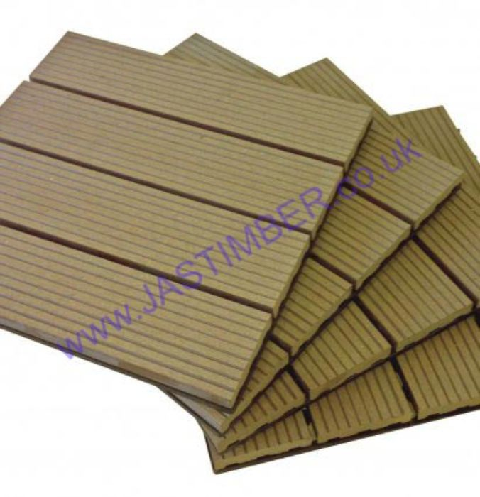 Composite Interlocking Decking Tiles