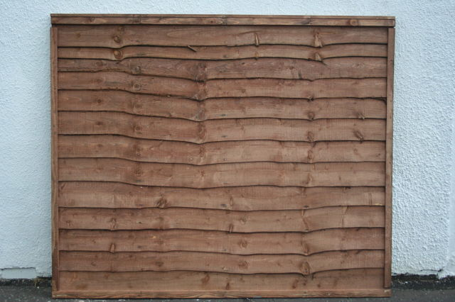 Waney-Lap Treated Timber Fence Panel