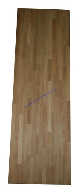 "Worktop - Oak ""Contract"" Solid Timber Staves 4 metre 650x40mm"