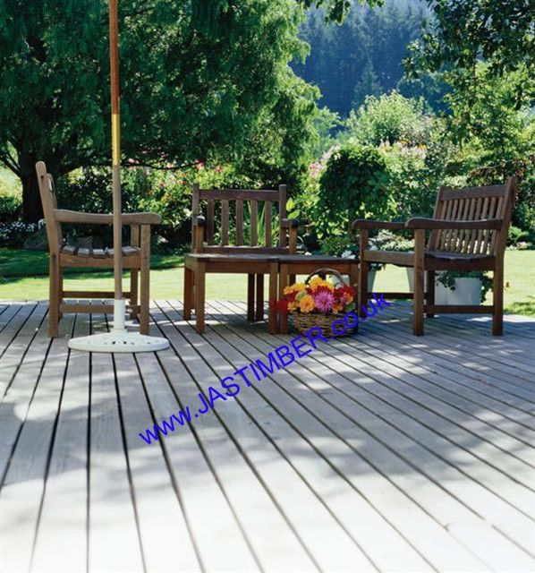 "Hardwood 6"" Timber Decking Board 145x21mm"