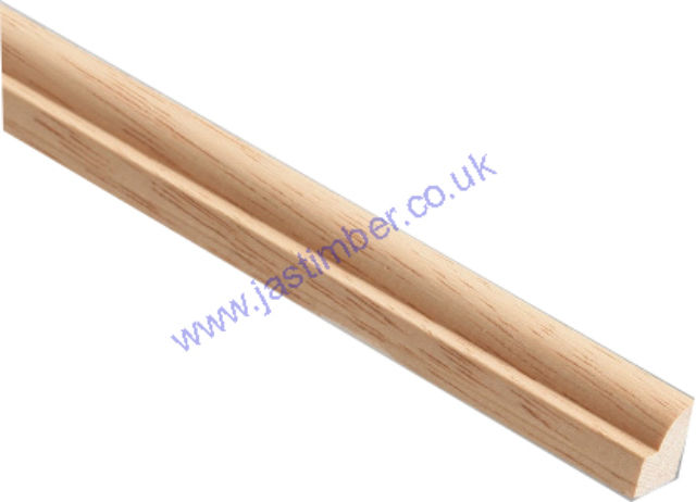 GLASS BEAD HTM895 (15x9mm) [DARK Hardwood] Solid Timber Moulding