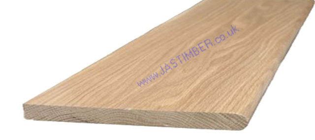 "Oak 11"" Window-Board (Finished size: 18x266mm) Nosed one edge"
