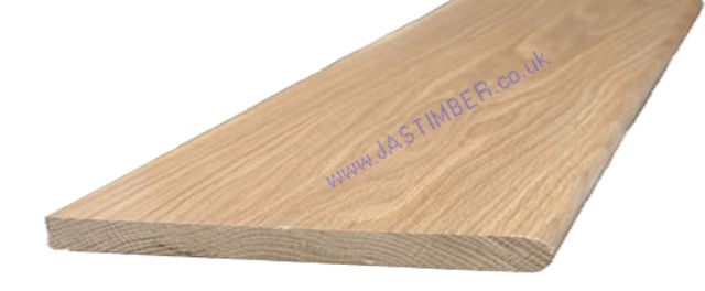 "Oak 12"" Window-Board (Finished size: 19x290mm) Nosed one side"