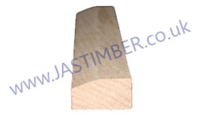 Oak Bead 45x24mm Moulding with Chamfer 20x6mm - JAS Workshop