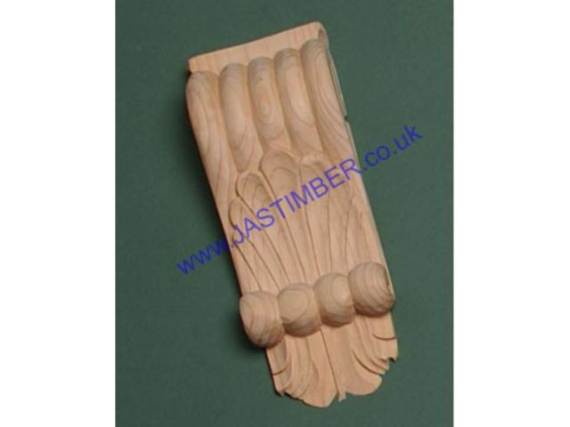 "Pine Carving 718 - 9"" Pine Classic Corbel 230x102x90mm (Single Price)"