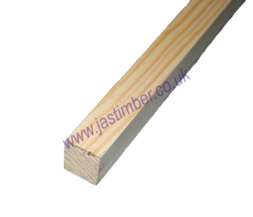1x1 PSE *Planed Scandinavian Pine Softwood* ( ex 25x25mm - Finished size: 21x21mm x 2.4 Metres. )