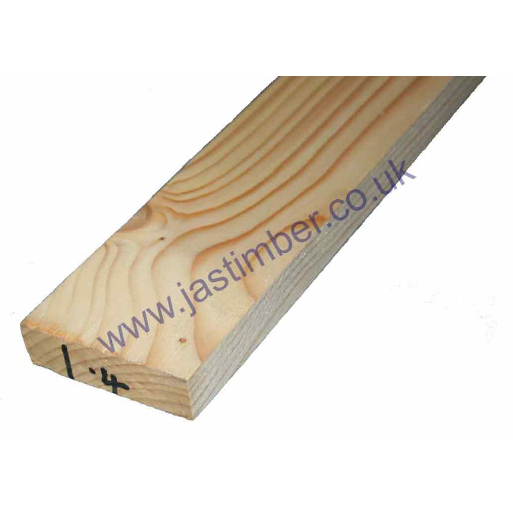 3x1 Planed Whitewood Softwood (ex 22x75mm - Finished: 18x69mm)