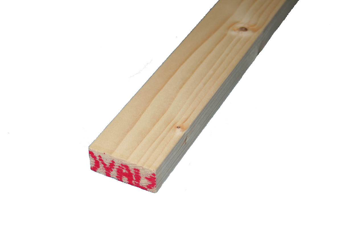 - 2.4 Metres Pine Planed All Round Timber 50mm x 50mm Pack of 4 2 x 2