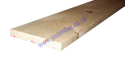 7x1 Planed Softwood *Scandinavian Redwood* (PSE ex 175x25mm - Finished size: 169x20mm)