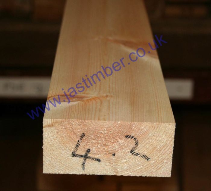 4x2 Planed *Redwood* Scandinavian Softwood (PSE ex 100x50mm - Finished: 94x44mm)