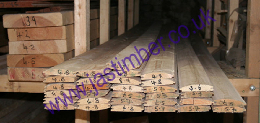 "3.5"" Log Lap Timber Cladding - (Current Pattern 19/08/2014.)"