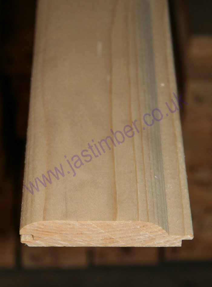 3 5 Quot Log Lap Pine Cladding