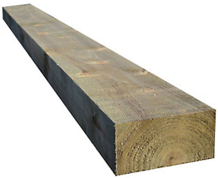 10x5 Rough Sawn Sleeper - *Green Treated* ( Finished size 240mm x 120mm ) Ungraded Timber