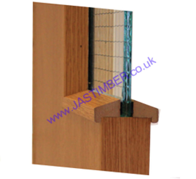 Hockey Stick Glazing Bead 21x24mm 3 Metre - Walnut-Foil wrapped MDF (Cut to 2 x 1.5 M Lengths for Carriage)