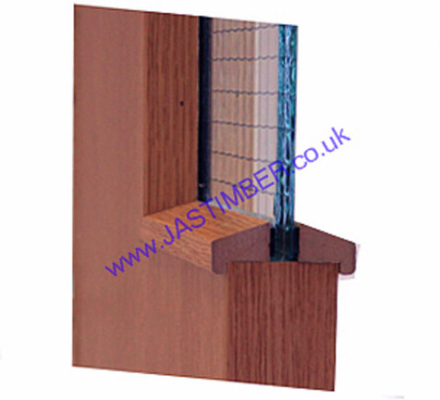 Hockey Stick FD30 Glazing-Bead 21x24mm x 3 metre cut to 2 lengths - Walnut-Foil MDF