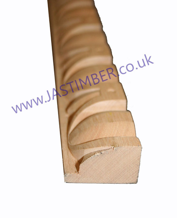 EGG & DART Large Beech Timber Moulding C609 38mm