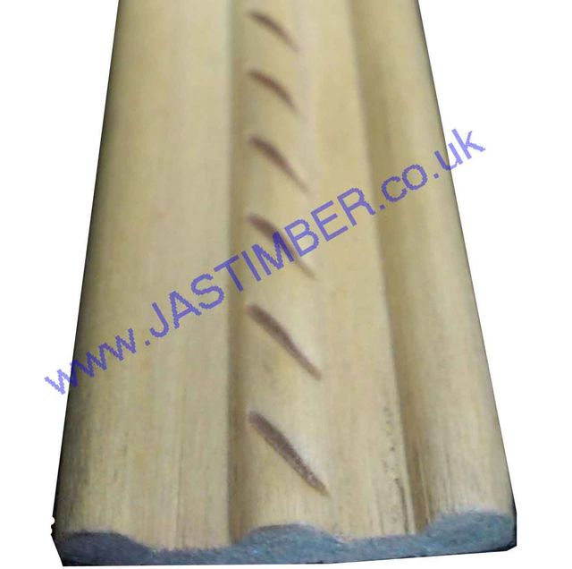 """Rope-Cut"" Lime Timber Carving 27x6mm or 26x5mm 1.8 Metre - HC804 Winther Browne - Clearance Item"