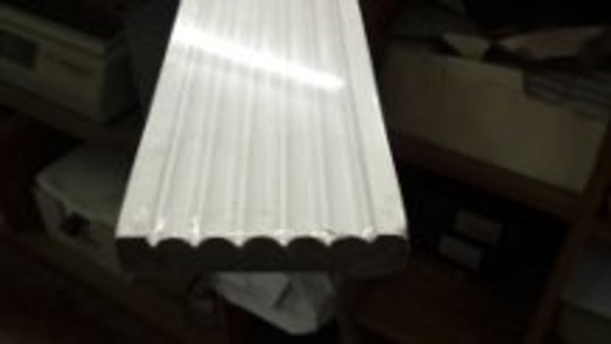 Satin White Reeded Architrave
